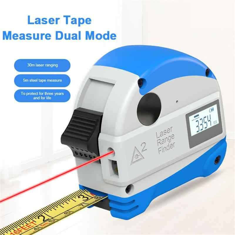 30M Infrared Steel Tape Measure Intelligent Tapeline Laser Rangefinder Digital Electronic Infrared High Precision Range Finder
