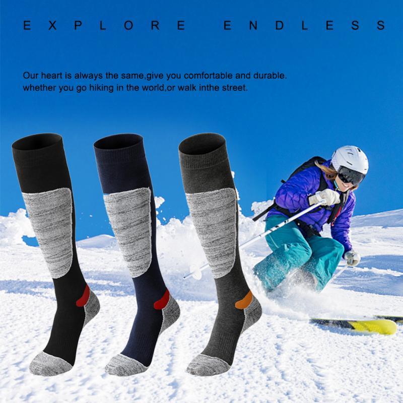 Winter Warm Men Women Thermal Long Ski Socks Stockings Thicken Sports Snowboard Climbing Camping Hiking Socks Footwear Woman