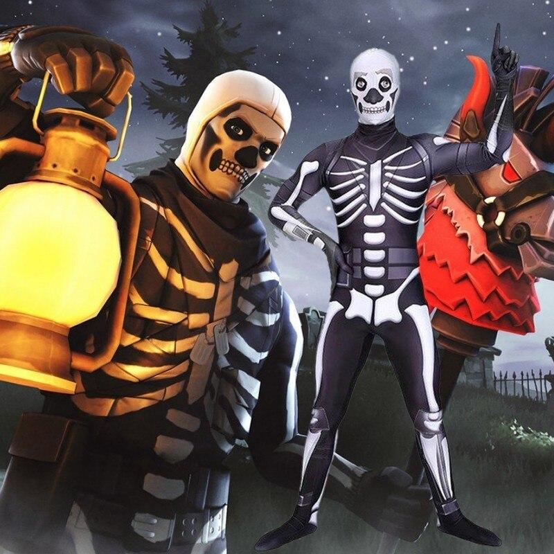 Genereus Game Venom Schedel Trooper Kostuum Fortniter Fortnited Cosplay Carnaval Halloween Volwassen Jumpsuit Mannen 3d Print Party Kids Veertien Dagen