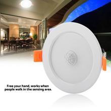 цена на 7w/5w Round LED Spot Light Infrared Sensor Downlight Human Body Induction LED Spot Light Indoor Recessed Light