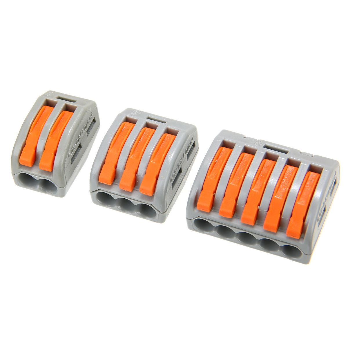 60pcs Plastic Practical Terminal Block 2/3/5 Hole Spring Lever Terminal Block Electric Cable Wire Connector Flexible Operating60pcs Plastic Practical Terminal Block 2/3/5 Hole Spring Lever Terminal Block Electric Cable Wire Connector Flexible Operating