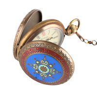 Antique Mechanical Pocket Watch for Men Skeleton Watches Horizontal Phases Moon Sun 24 Hour for Women Pendant Necklace Gift