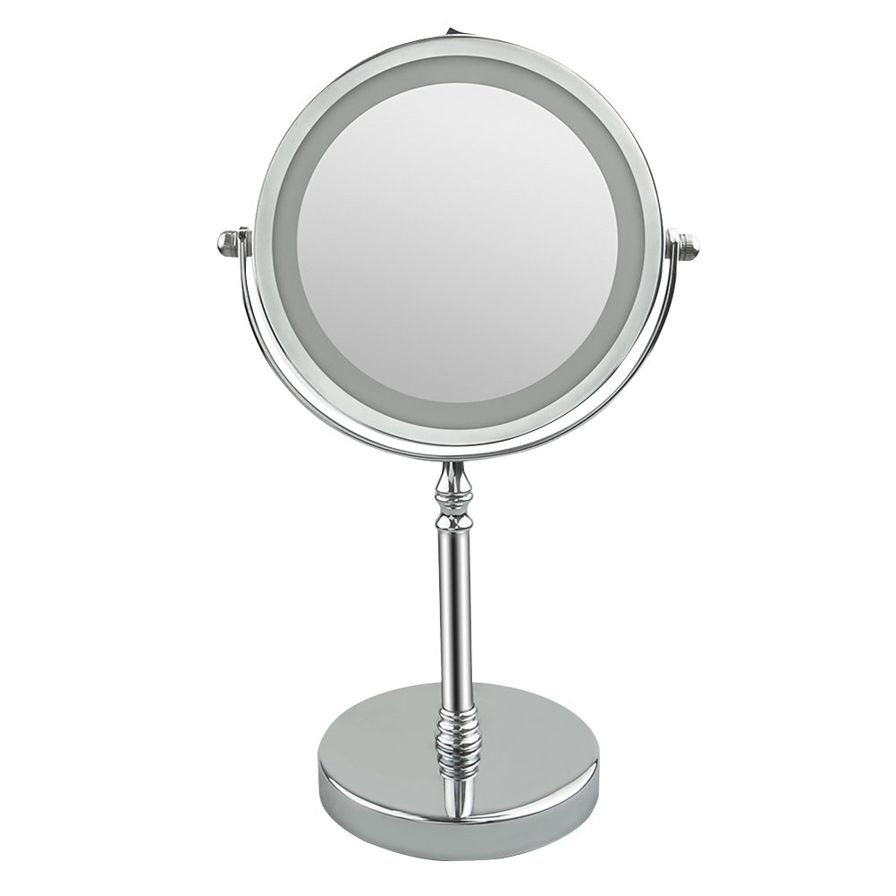 1pc Makeup Mirror Double Sided 360 Degree Rotation LED 10X Magnification Vanity Mirror Mirror for Living Room Bathroom Bedroom