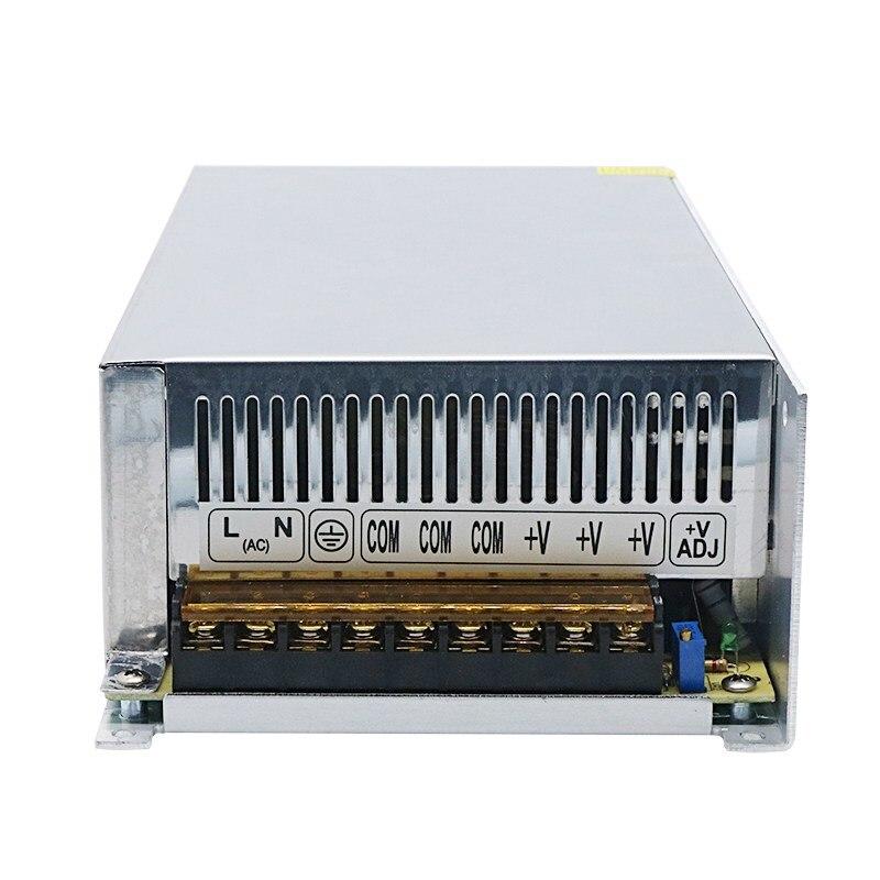 Haute Qualité 10 pièces DC 12V 50A 600W Transformateur D'alimentation À Découpage pour LED Bande Lumière 110/220V
