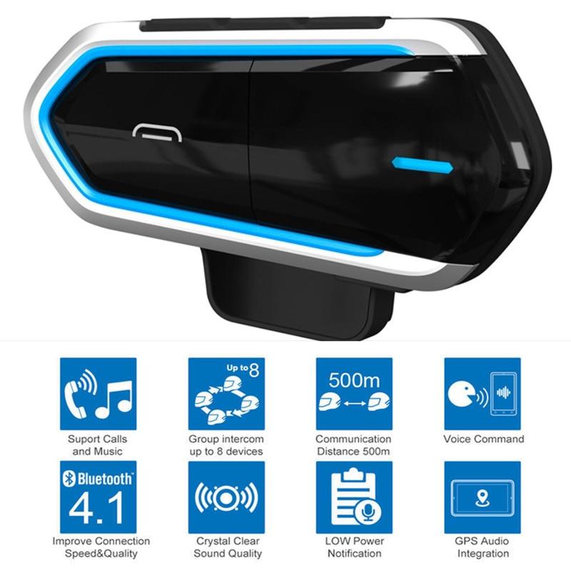 Motorcycle Wireless Headset Bluetooth 4.1 Hands-free FM Radio MP3 Helmet Headset Earphone Audio