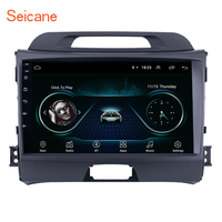Seicane Car Radio For 2010 2011 2015 KIA Sportage Android 8.1 9 Inch HD Touchscreen GPS Multimedia Player Support Bluetooth WIFI
