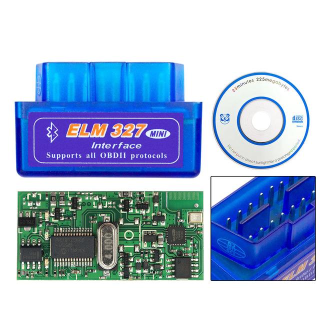 2018 Bluetooth ELM327 V1.5 PIC18F25K80 ELM 327 1.5 OBD2 Code Reader Support All OBDII Protocol ELM OBD II Car Diagnostic Scanner