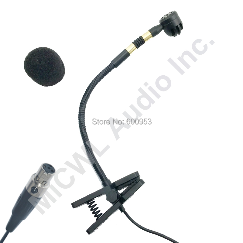Musical Instrument Condenser Microphone for Saxophone Violin Orchestra Trumpet Gooseneck For Shure 4Pin TA4F Sennheiser 3 5 AKG in Microphones from Consumer Electronics