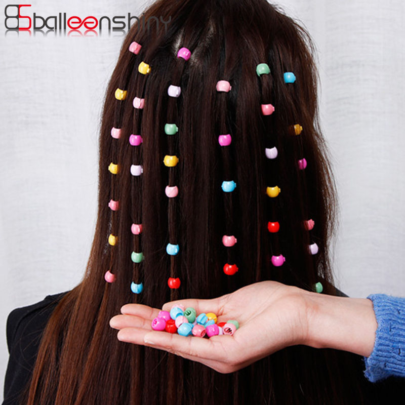 Balleenshiny 20pcs Hair Pins For Kids Colored Small Sugar Beans Grab Clip Braided Hair Clip Side Clip Baby Girl Hair Accessories