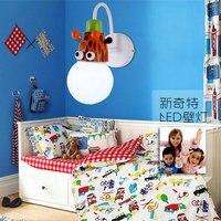 Cute Cartoon Animal Child Room Wall Lamp E27 Bulb Wall Mounted Light For Girl Boy Fixtures Lighting