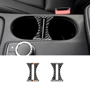 Image 2 - Для Mercedes BenzA Class W176 X156 C117 14 17 Автомобильный держатель для стакана с водой в салон Декор чехол из углеродного волокна