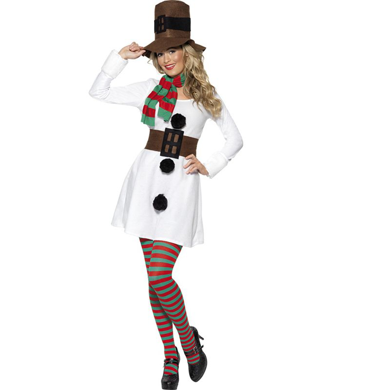 Adult Womans Snowman Christmas Costume