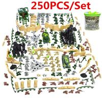 250pcs DIY Military Plastic Toy Soldiers Army Men Figures Playset Kids Gift Toy Soldiers Model Action Figure Toys For Children