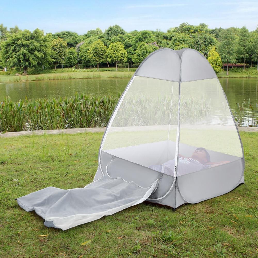 Extérieur 1 personne moustiquaire méditation Camping tente simple sit-in abri autoportant Cabana pliage rapide Camping tente 2019