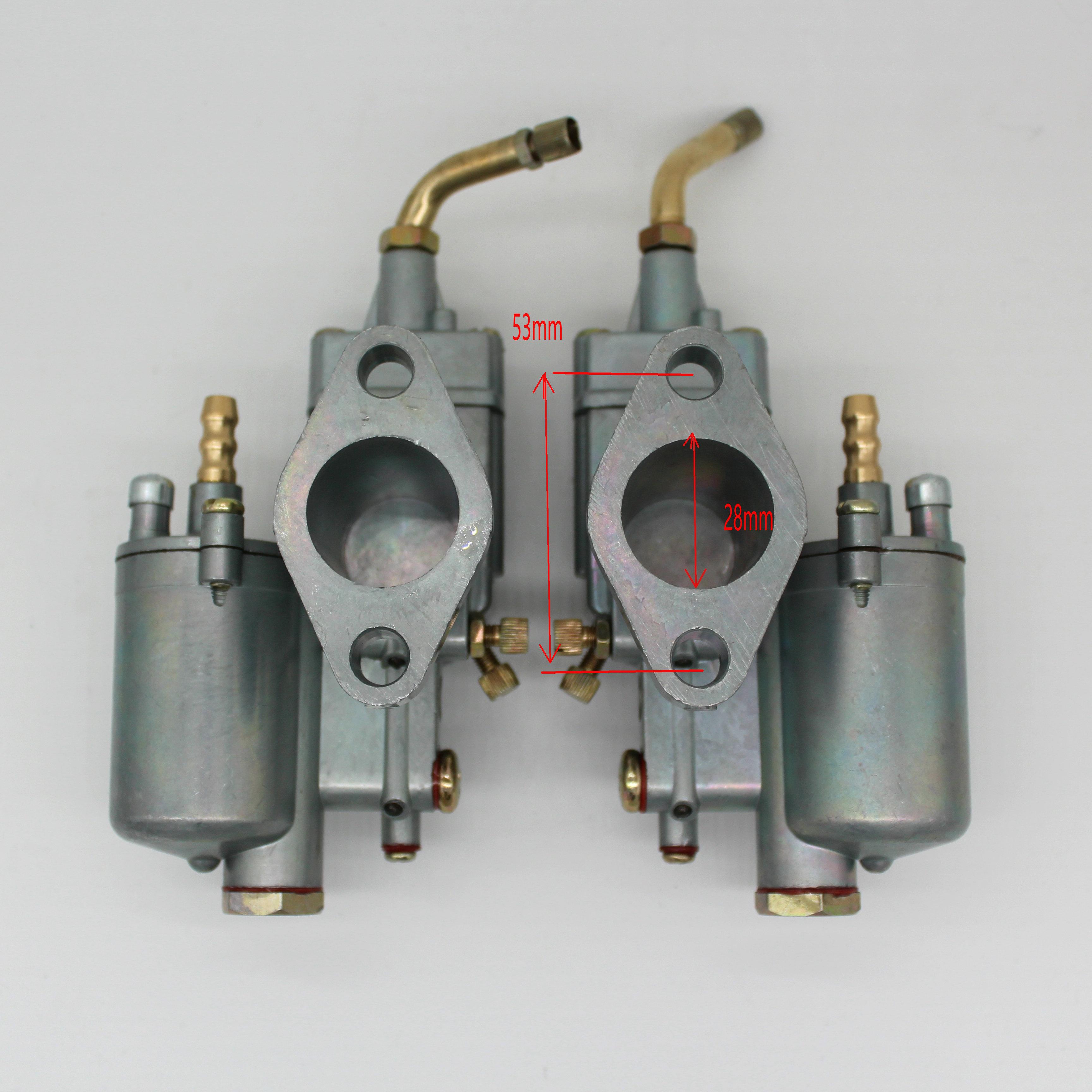 High Performance 1 pair Left Right 28mm Carb Pair Vergaser Carburetor Carb y fit for K302