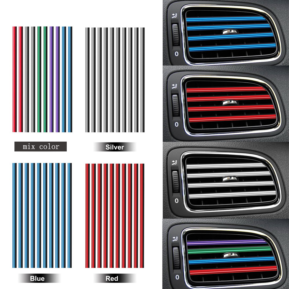 10 Pieces/set Air Conditioner Outlet Grille Decoration U Shape Diy Chrome Styling Moulding Car Air Vent Trim Strip Car-styling To Enjoy High Reputation At Home And Abroad