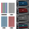 10 pezzi/set Presa di Aria Condizionata Griglia di Decorazione di Figura di U FAI DA TE Chrome Styling Moulding Car Air Vent Trim Striscia di Auto  styling|Modanature interne|Automobili e motocicli -