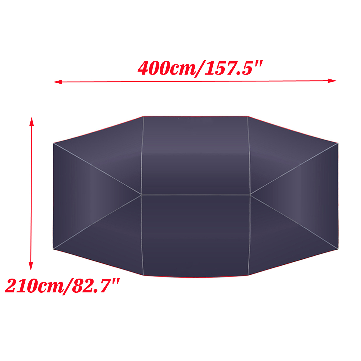 Voiture parapluie soleil ombre couverture extérieure voiture véhicule tente Oxford tissu Polyester couvre 400x210 cm bleu/argent sans support - 4