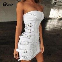 d6ca2f61af Ohvera Metal przycisk Off Shoulder Mini Bodycon sukienka kobiety Slash Neck  Summer Dress Backless Sexy Party suknie