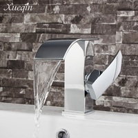 Chrome Waterfall Basin Sink Faucet Antique Brass Kitchen Basin Mixer Tap Single Handle Bathroom Crane Cold And Hot Water Tap