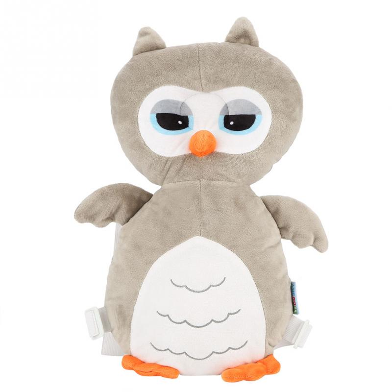 Baby Toddler Pillow Cartoon Owl Shape Headrest Large Baby Head Protection Pad Neck Cute Wings Nursing Drop Resistance Cushion