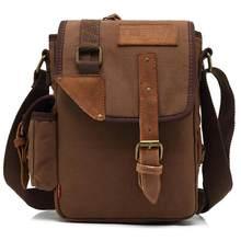 407abe17f3e8 Винтажная мужская сумка высокого качества Холщовая Сумка на плечо для  мужчин подростков мальчиков деловая дорожная сумка
