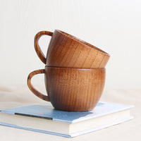 Japanese Tea Wooden Cup in Inquiry Cart Portable Mug Thermal Insulation Anti Scald mu bei zi Solid Wood Coffee Cup Wholesale