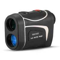 600M Golf Laser Rangefinder Range Finder 6X Magnification Distance Meter Angle Height Range Finder for Horse Racing