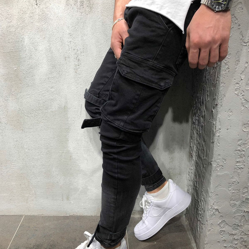 Men Fashion Casual Harem Pant High Street Hip Hop Male Big Pocket Slim Fit Cargo Trousers Biker Pant Jogger Sweatpants