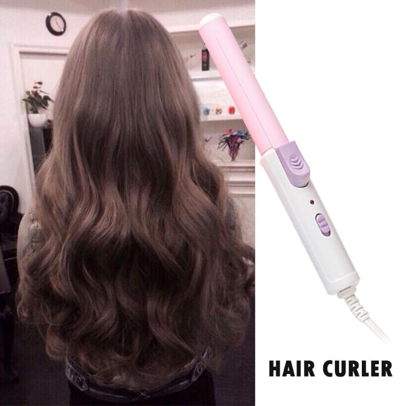 Professional Portable Mini Ceramic Electronic Hair Curler Hairdressing Styling Tools Fast Curling Iron Wand