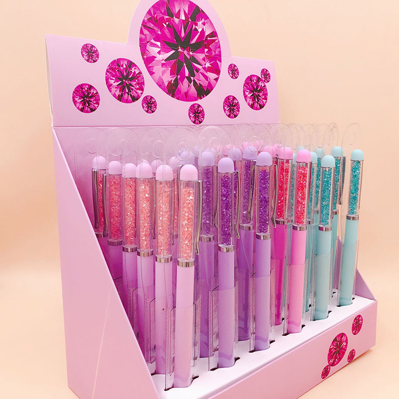 1PC Kawaii Neutral Pens Cute Crystal Pens Novelty Candy Color Gel Pens For Girls Gifts School Office Supplies Korean Stationery