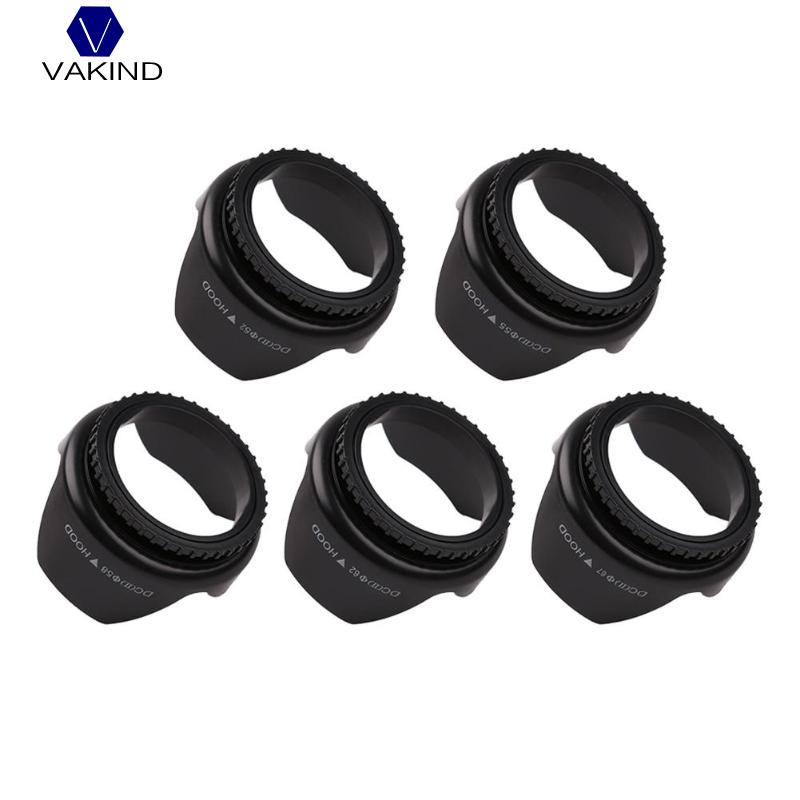 <font><b>52mm</b></font>/55mm/58mm/62mm/67mm Professional Camera Lens <font><b>Hood</b></font> Flower Shape Screw Mount Lens <font><b>Hood</b></font> Sunshade Light Shield Protector image