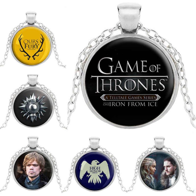 เกมของ Thrones สร้อยคอ A Song of Ice and Fire House Stark Figure Daenerys Targaryen Stark Badge จี้ GOT 7 สำหรับเครื่องแต่งกาย