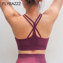 Female Solid Seamless Sexy Sports Bra High Quality Workout Fitness Crop Top Bra Padded Push Up Fitness Yoga Bra For Women Gym цены онлайн