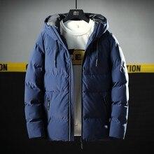 Varsanol 두꺼운 파카 남성 자켓 코트 2018 새로운 브랜드 후드 면화 파커 남성 솔리드 후드 포켓 20도 파카 남성