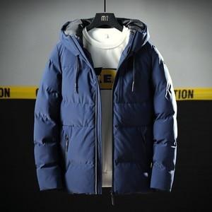 Image 1 - Varsanol Thick Parka Men Jacket Coat 2018 New Brand Hooded Cotton Parkas Men Solid Hooded Pocket  20 Degree Parka Men