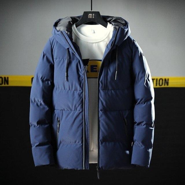 Varsanol Thick Parka Men Jacket Coat 2018 New Brand Hooded Cotton Parkas Men Solid Hooded Pocket  20 Degree Parka Men