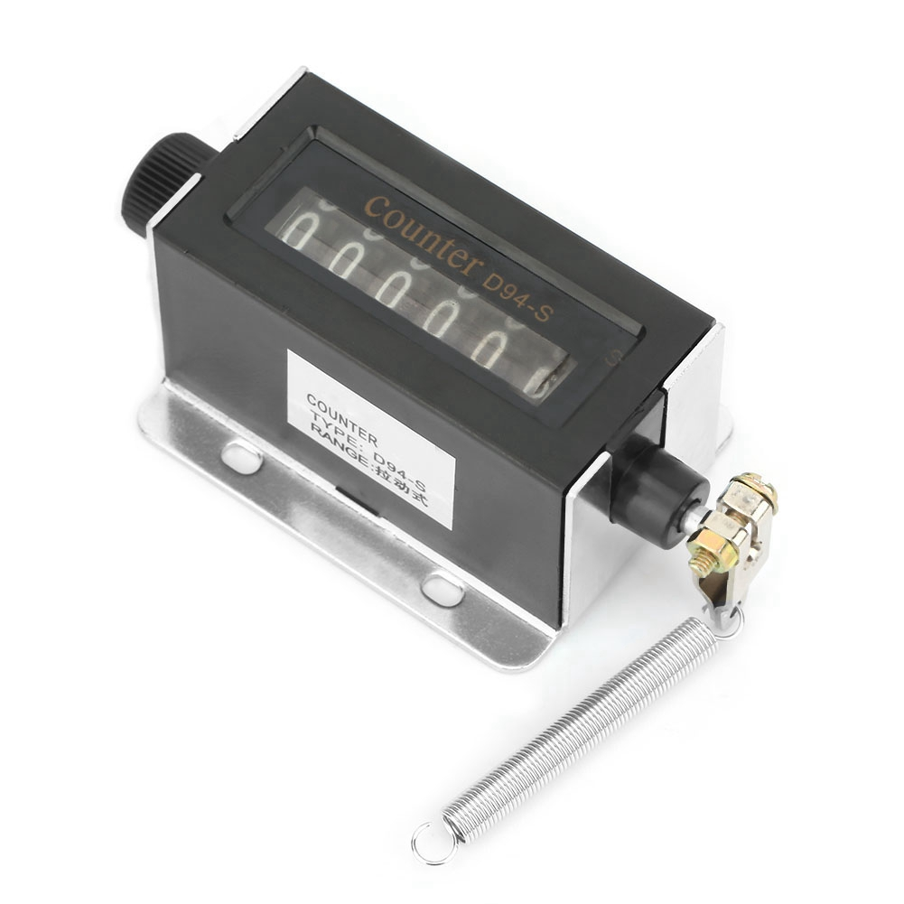 D94-S 6 Digit 0-999999 Mechanical Pulling Count Counter Resettable