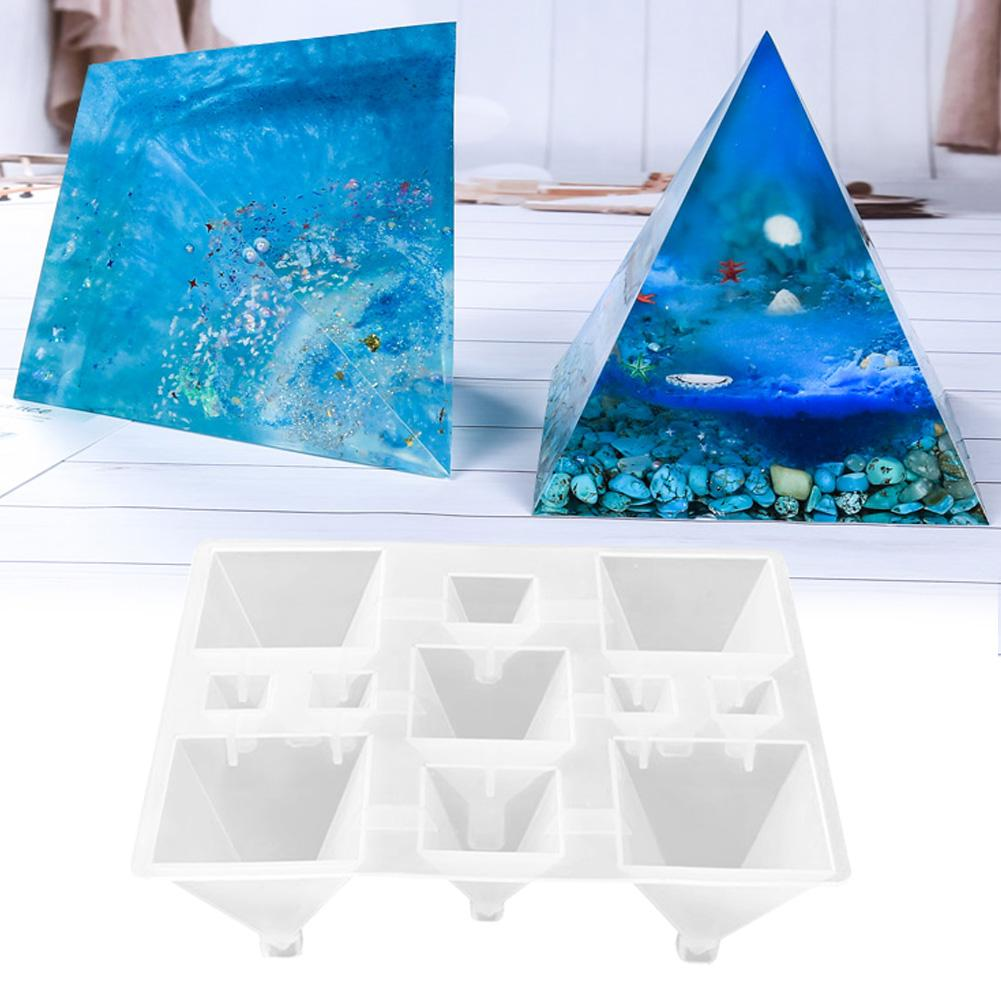 New Pyramid Shape Translucence Molds Environmental Durable DIY Silicone Mirror Conical Mold #CO
