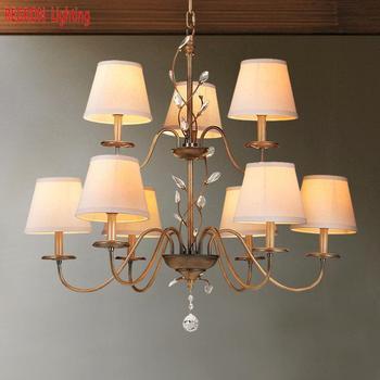 Americano Do metal Do Vintage Bar lâmpada Lustres de bronze Candelabro Levou Luz Para Sala de estar Quarto Sala de Jantar Sala de estar iluminação