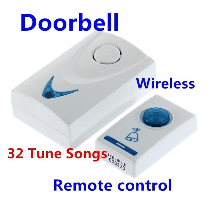 DC3V LED Wireless Chime Doorbell Battery Powered 32 Tune Songs 1 Remote Control 1 Wireless Doorbell Door Bell Digital LEDDC3V LED Wireless Chime Doorbell Battery Powered 32 Tune Songs 1 Remote Control 1 Wireless Doorbell Door Bell Digital LED