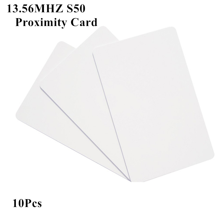 RFID Card  ISO14443A 13.56Mhz MF S50 Proximity Smart IC Card Tag Credit Card Size Contactless Rewritable Access Control Card