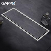 GAPPO Drains stainless steel recgangle bathroom shower drain strainer anti odor ater drains strainer floor drain