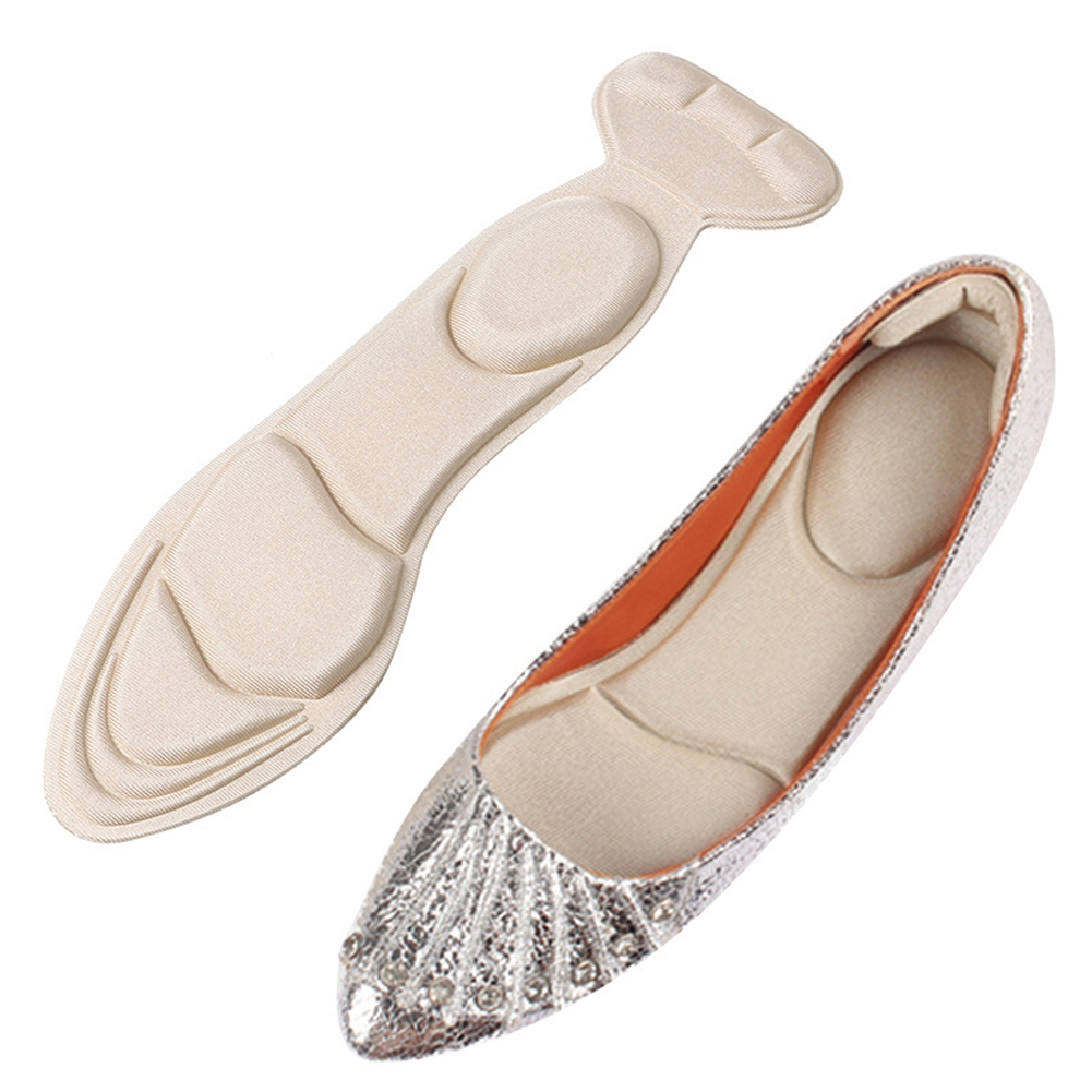 1 Pair Insole Pad Inserts Heel Post Back Breathable Anti-slip For High Heel Shoe New Cleaning The Oral Cavity.