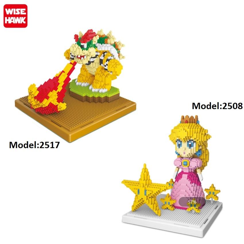 Мини-конструктор аниме король боусер модель Принцесса Персик детские игрушки Yoshi аукцион фигурки Детские Рождественские подарки 2508