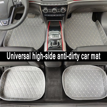 ZHAOYANHUA Universal car floor mats car fit LHD and RHD All Models Mitsubishi Oulander Pajero sport Lancer ASX Galant Grandis image