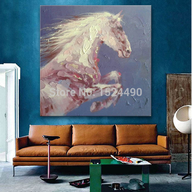 Free Shipping Hand Painted Abstract Galloping Horse Animal Oil Painting On Canvas Wall Art Painting Living Room Decor