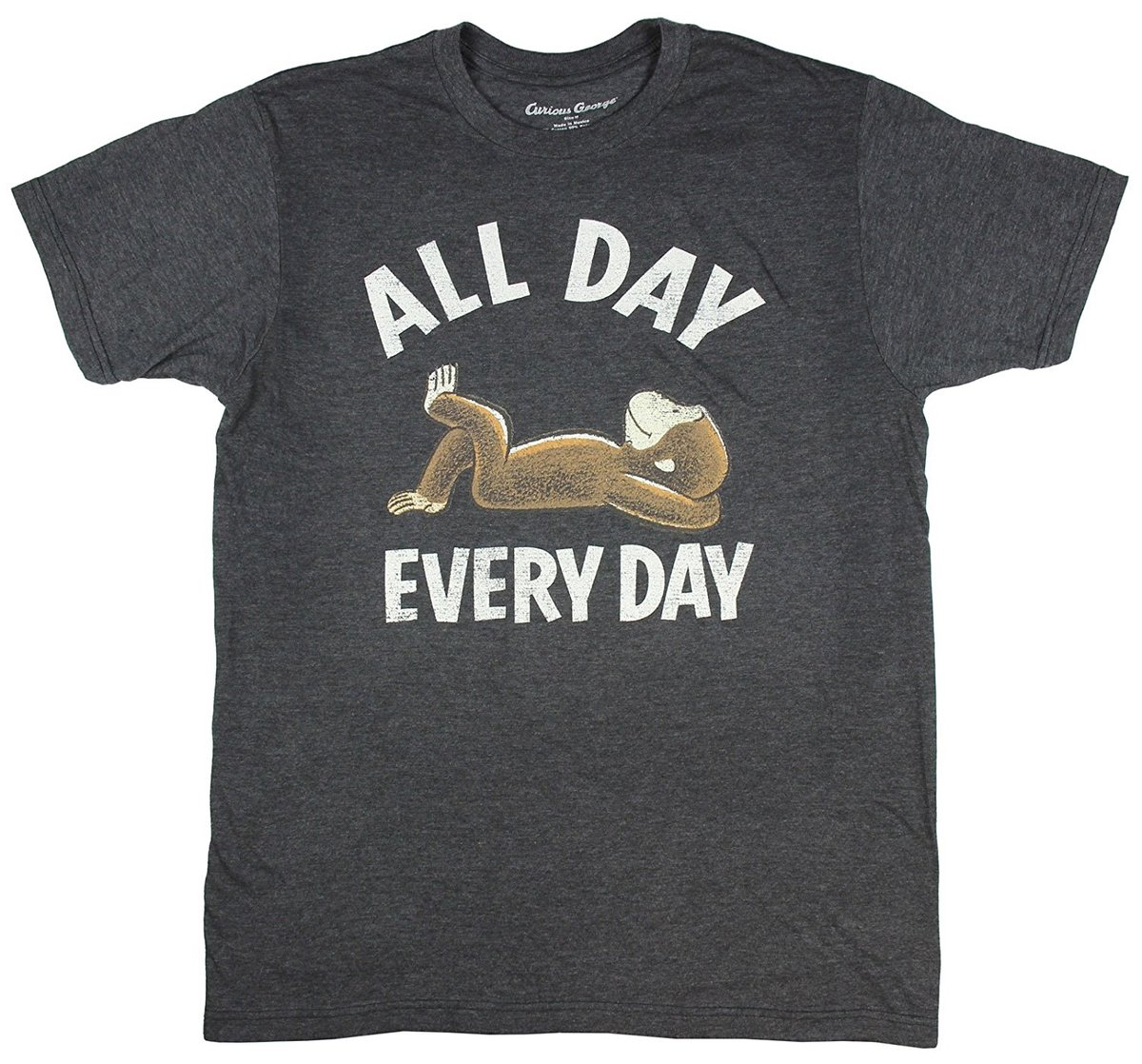 Curious George All Day Every Day Licensed Graphic T Shirt in T Shirts from Men 39 s Clothing