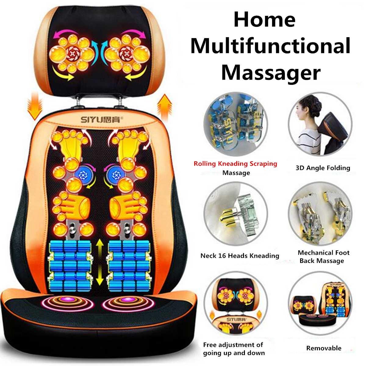 Shiatsu fauteuil de Massage Antistress corps complet coussin de Massage électrique chaleur cou dos Cervica compresse Vibration pétrissage Massage