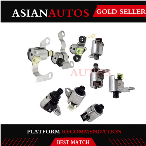 JF506E 09A 5F31J 9 Piece Kit Remanufactured Transmission Shift Solenoid Gearbox Kit For VW Jaguar Land Rover JF506E 09A 5F31J(China)
